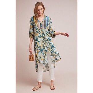 Bl-nk Lucia Tunic Hi-Low Blouse Dress Floral Top